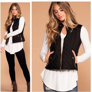 🍁 Denver Faux Shearling lined Quilted Padded Vest